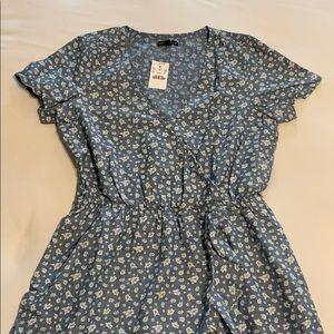 JCrew Hibiscus chambray dress